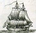 Vaisseau de guerre à deux ponts du XVIIIème siècle sous voiles.jpg