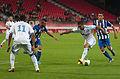Valais Cup 2013 - OM-FC Porto 13-07-2013 - Jordan Ayew, Steven Defour, Dimitri Payet et Diego Reyes.jpg