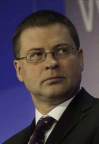 Valdis Dombrovskis - World Economic Forum on Europe 2010.jpg