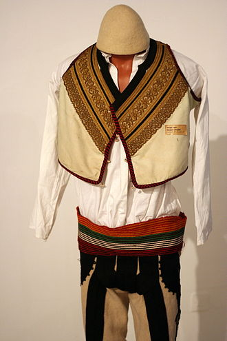 Traditional clothing of Kosovo - Male tirqi apparel