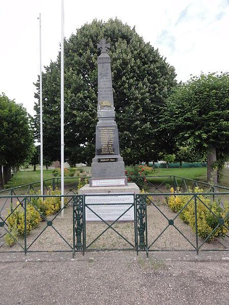 Vesles-et-Caumont (Aisne) monument aux morts