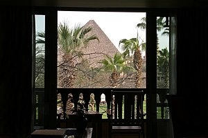 Mena House Hotel - View from the - Mena House Hotel, Egypt.