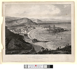 View of Aberystwyth from Craiglais, Cardiganshire, south Wales
