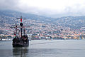 View of Funchal as from its bay, with a windship in foreground. Funchal, Portugal, Autonomous Region of Madeira, Southwestern Europe.jpg