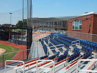 Houston Baptist Huskies - Image: View of Husky Field Softball grandstands