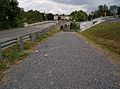 View of Van Metre Ford Bridge from defunct road 02.jpg