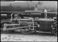 View of the valve gears, axle and wheels on the C class 2-6-2 steam locomotive, New Zealand Railways no 851, after construction at Hutt Railway Workshops, Woburn. ATLIB 290106.png