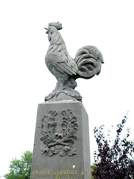 Fichier:Vigneux-Hocquet monument-aux-morts (coq).jpg