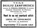 Viile Duiliu Zamfirescu, Strada Zorilor 2, NRR 2 sept 1909.JPG