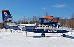 Viking DHC-6 Twin Otter Aurora Airlines parked in Vostok.jpg
