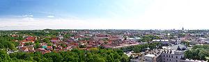 Vilnius Old Town - Image: Vilnius Panorama 02