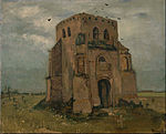Vincent van Gogh - The old church tower at Nuenen (`The peasants' churchyard') - Google Art Project.jpg