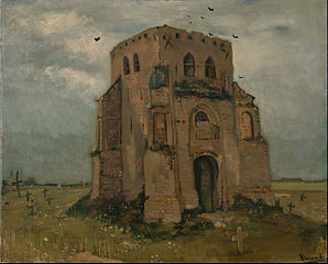 The old cemetery-tower in Nuenen