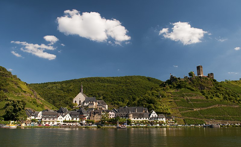 Vineyards in the German wine region of the Mosel Valley.