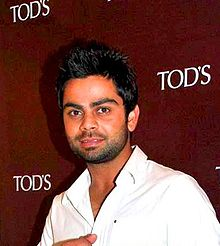 A head shot of Virat Kohli