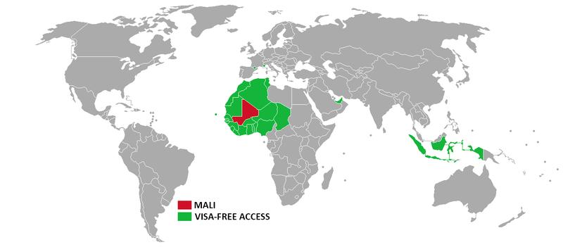 Visa policy of Mali