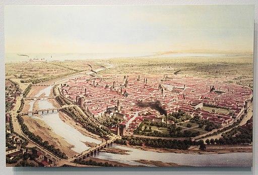 Vista de Valencia (ca. 1858) en el MUVIM