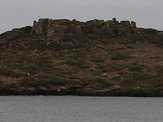 Fort of Pessegueiro Island - The remains of the star fort in the central part of the islet