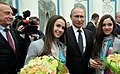 Vladimir Putin, Alina Zagitova, Evgenia Medvedeva.jpg