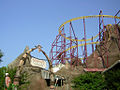 Volcano rollercoaster (Paramount's Kings Dominion, 2005).jpg