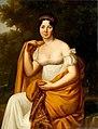 Volpelière, Julie - Portrait of a woman in yellow shawl.jpg