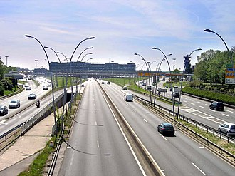 Route nationale 7 - Route 7 near Orly Airport in Paris