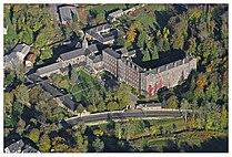 Vue aerienne Abbaye Blanche, Mortain.jpg