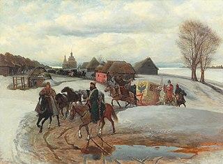 The Spring Pilgrimage of the Tsarina, under Tsar Aleksy Mihailovich