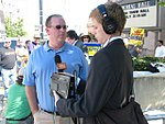 WI Union activists protest outside McCain Town Hall in Racine, July 31, 2008 (2722166561).jpg