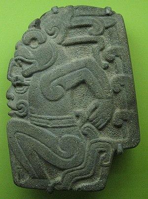 Pre-Columbian art - Totonac andesite hacha, Veracruz