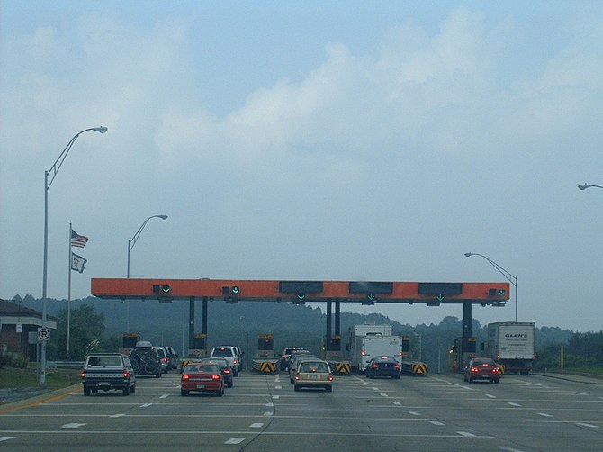 Toll booths on the West Virgina Turnpike