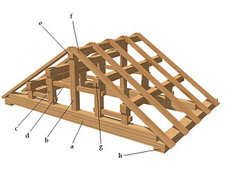Japanese carpentry - Wagoya type traditional roof framing, a post-and-lintel type of framing.