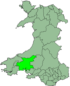 District of Carmarthen - Image: Wales Carmarthen 1974