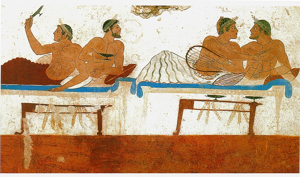 WallPaintingTomb Paestum Italy GreekColony sm