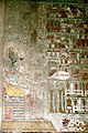 Wall painting of Anubis in the Mortuary temple of Hapshepsut.JPG