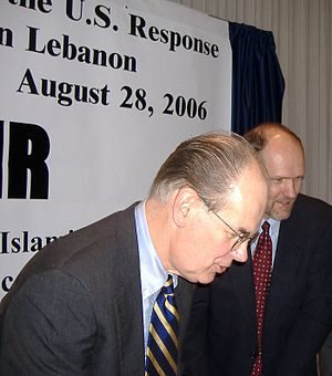 The Israel Lobby and U.S. Foreign Policy - Professors John Mearsheimer (left) and Stephen Walt, authors of The Israel Lobby and U.S. Foreign Policy