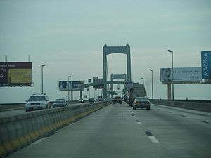 Walt Whitman Bridge - Eastbound on the Walt Whitman Bridge