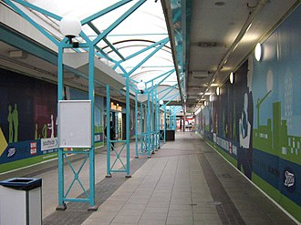 "Southside Wandsworth - Boarded up shops in Arndale Walk, the last ""1970s"" part of the centre, which has now been demolished"