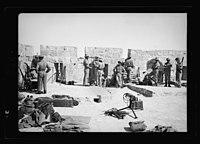 War-like scene on roof of Tower of David, mounted machine guns - tele. LOC matpc.18824.jpg