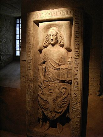 Louis the Springer - Louis' grave stone in the Wartburg