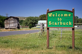 Starbuck, Washington - Welcome sign in Starbuck