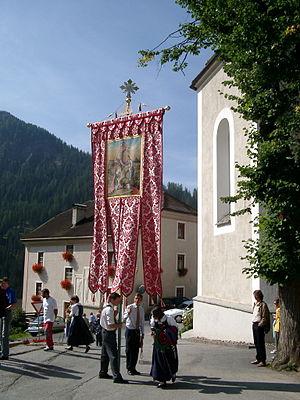 La Val - Image: Wengen Prozession