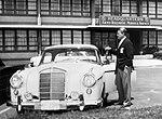 Wernher von Braun with his Mercedes 220SE.jpg