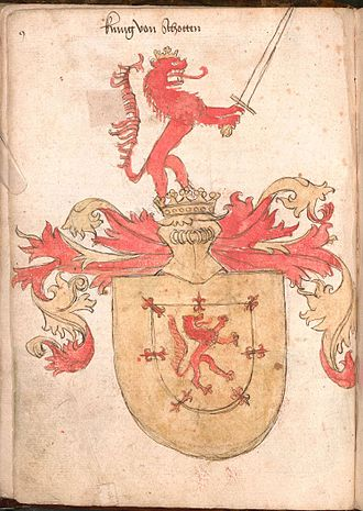 Royal Arms of Scotland - Arms of the King of Scots, from the Wernigerode Armorial, c. 1475