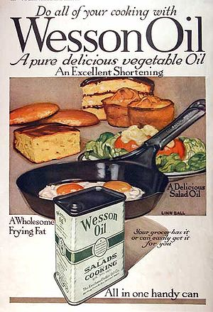 Wesson cooking oil - Wesson Oil advertisement, 1918.