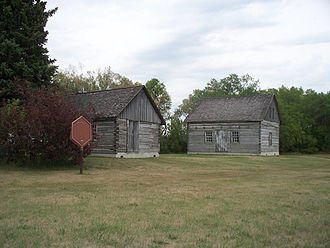 Emerson, Manitoba - The original post office and customs house at West Lynne, built c. 1871