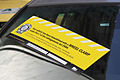 Wheel clamped BMW5Series Notice, Little Collins St, Melb, 19.10.2011, jjron.jpg