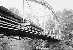 Normansville, New York - Whipple truss bridge at the Steven's Farm. It is on the National Register of Historic Places