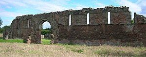 Brewood - Ruins of White Ladies Priory, just west of Bishops Wood, viewed from the north-east.