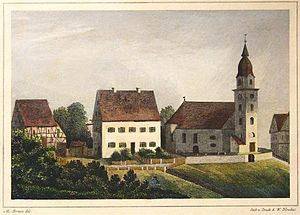 Christoph Martin Wieland - Birthplace of Christoph Martin Wieland in Oberholzheim, (1840)